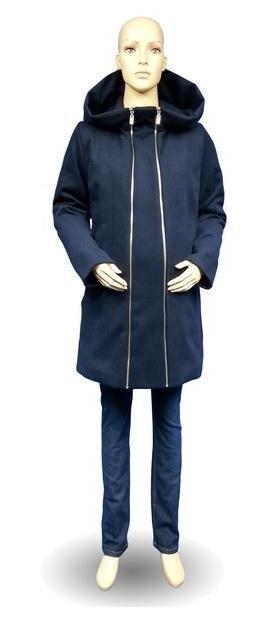 Tehotenský kabát Nina tmavomodrý - Tehotenské oblečenie 59414936bdc