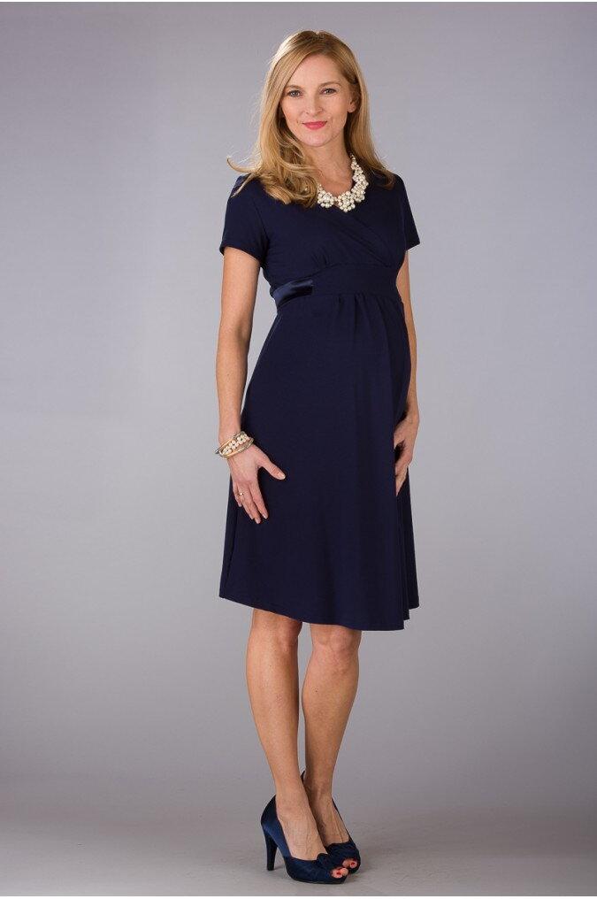 e2824c18d176 Tehotenské šaty Inez Navy 36