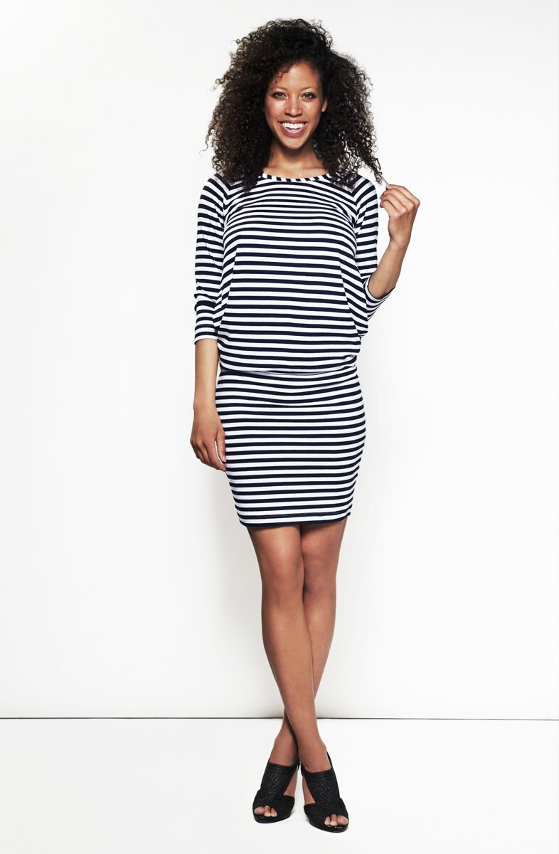 390de9fed1e0 Šaty na dojčenie Cool Mama Blue Stripes - Tehotenské oblečenie ...