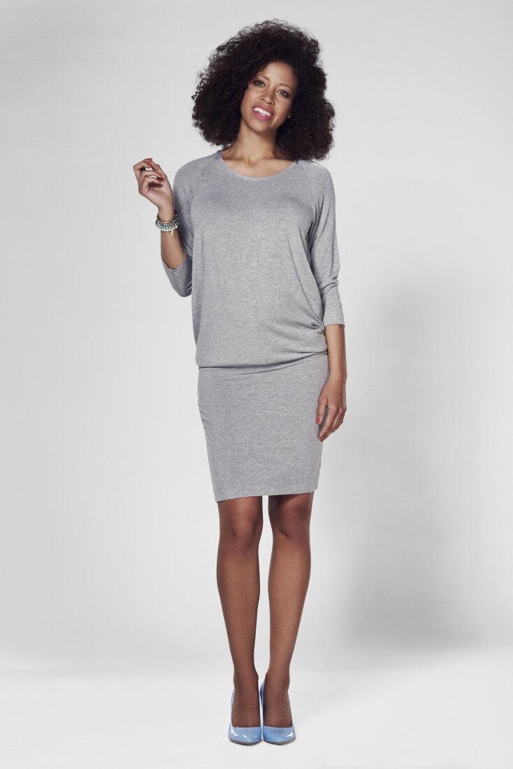 Šaty na dojčenie Cool Mama Light Gray - Tehotenské oblečenie ... d6739145e6
