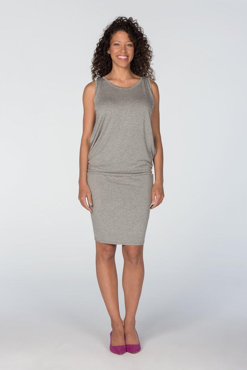 Šaty na dojčenie bez rukávov Cool Mama Light Gray - Tehotenské ... 4a20a65845