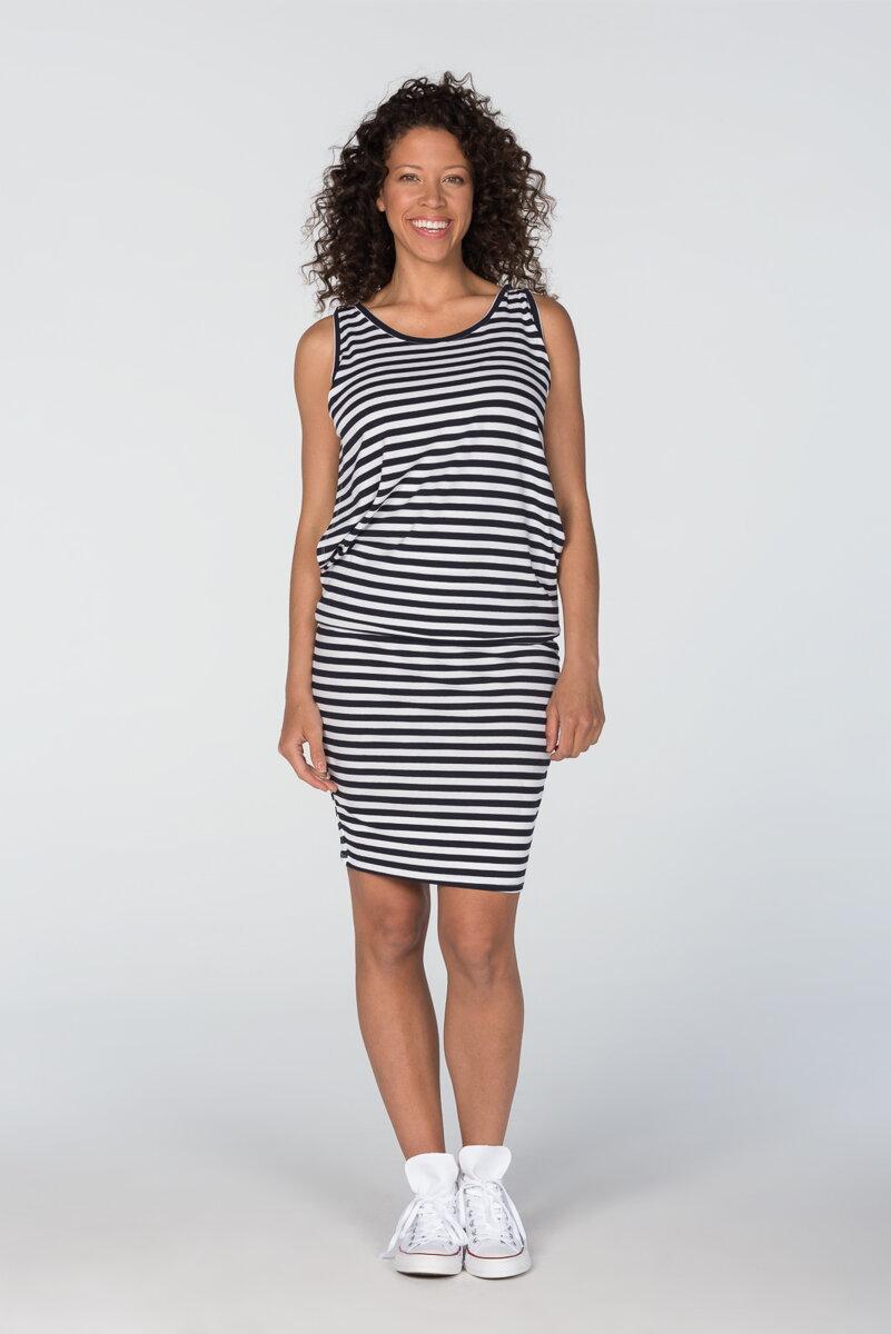 ac249d9d79a5 Šaty na dojčenie bez rukávov Cool Mama Blue Stripes - Tehotenské ...
