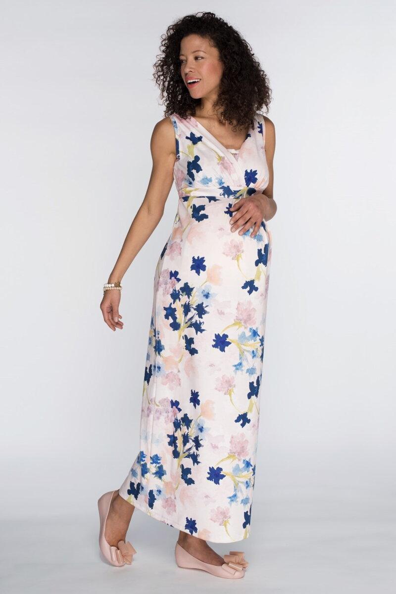 18fd72229681 Tehotenské maxi šaty Cool Mama Iris - Tehotenské oblečenie ...