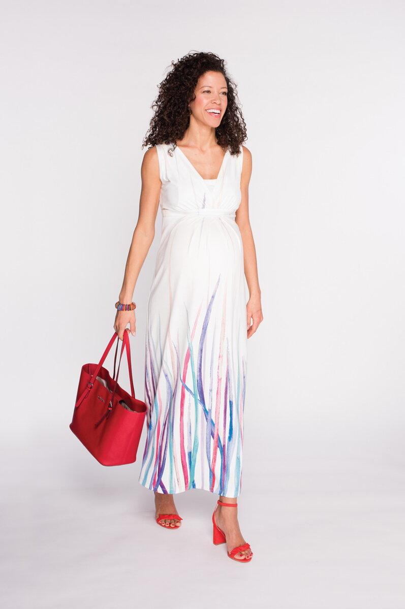 eeb04c2e058b Tehotenské maxi šaty Cool Mama Summer