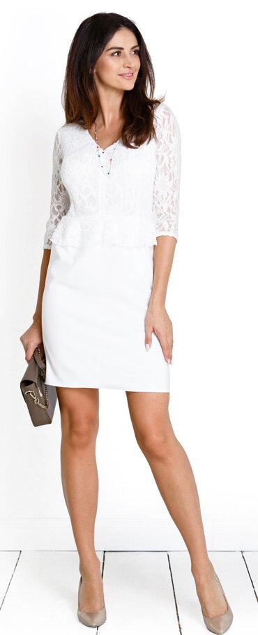 1e2de3258cba Tehotenské šaty Bella Cream Dress - Tehotenské oblečenie