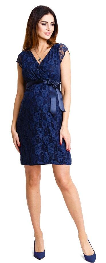 Tehotenské šaty Lovely Navy Dress - Tehotenské oblečenie dc7ebc410fc