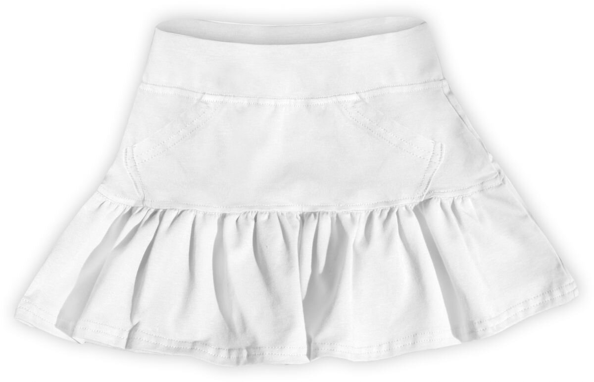 c7a511fd38df Dievčenská bavlnená suknička biela - Tehotenské oblečenie ...