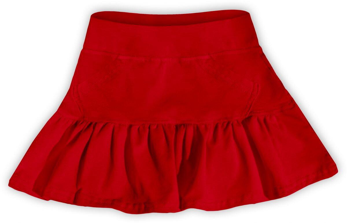 826d91bfd0dc Dievčenská bavlnená suknička červená v. 122