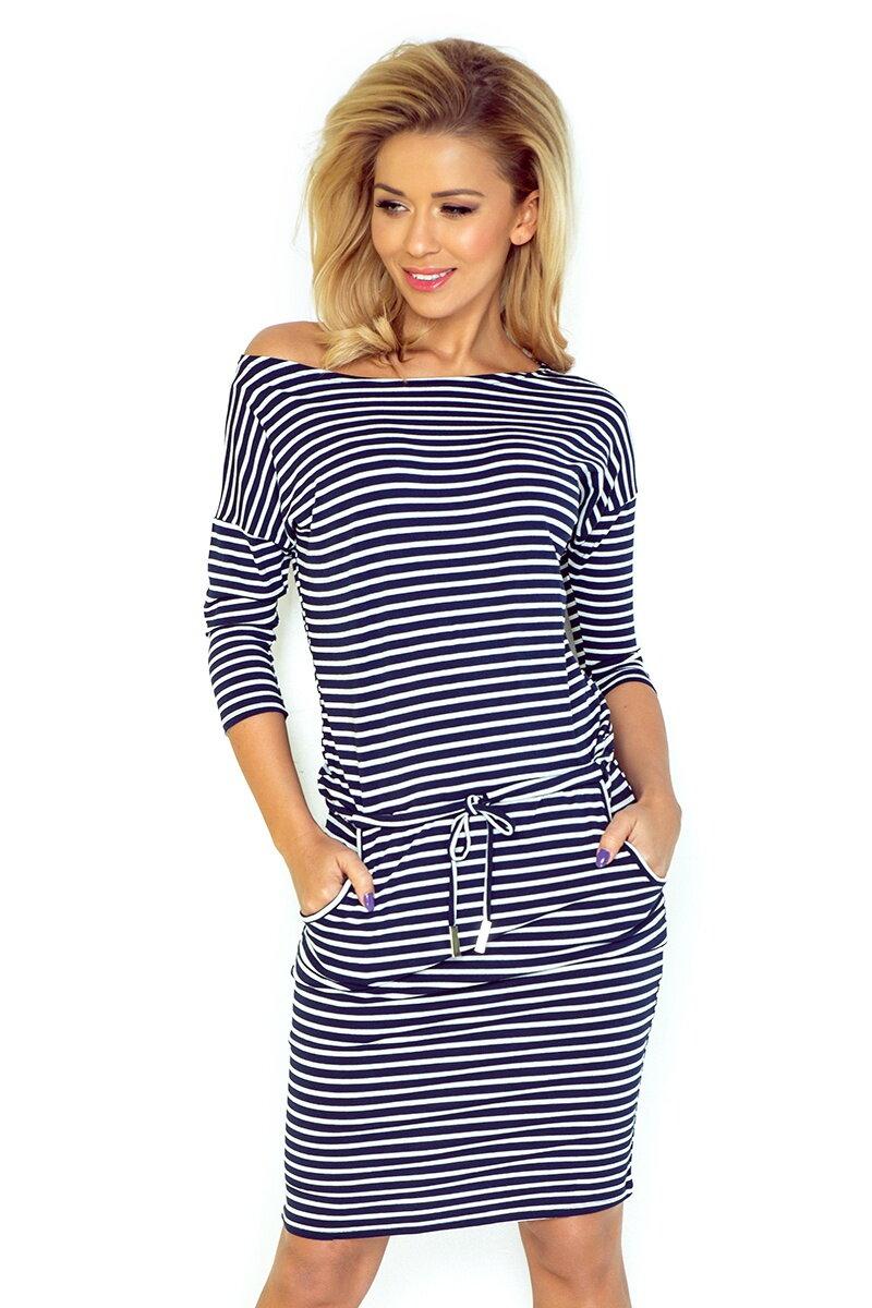 54e842e82 Športové dámske šaty Gladys, Blue stripes (13-51) - www.mojamoda.sk