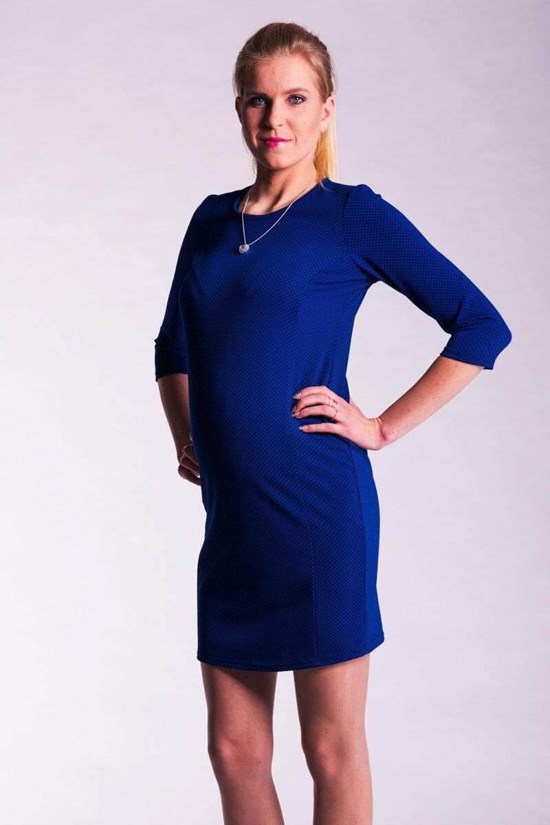 24fb6ef7c37f Tehotenské šaty Lea modré S