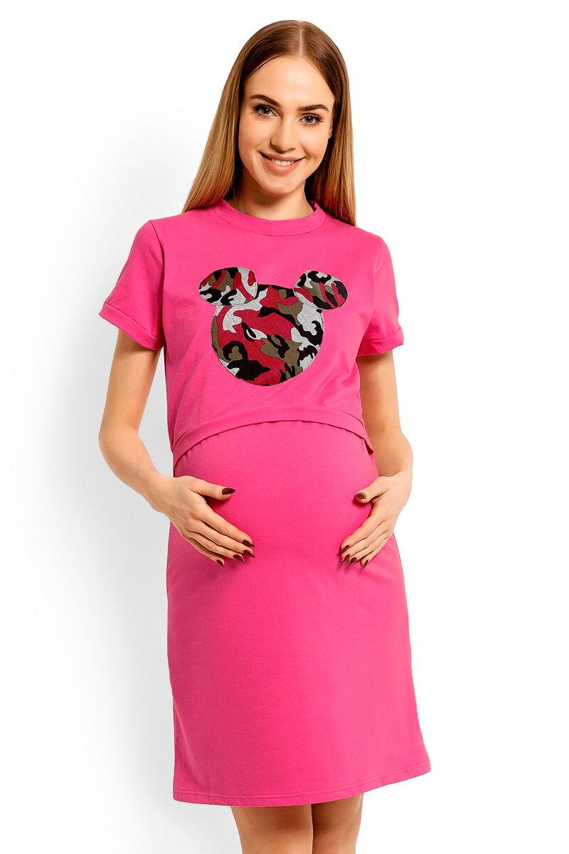 b610ff3ef0ce Nočná košeľa na dojčenie Mickey Dark Pink - Tehotenské oblečenie ...