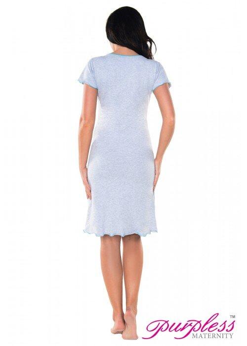 70445d5e809b Nočná košeľa na dojčenie Felicia Light Gray Melange Aqua ...