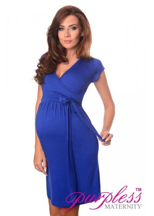6a45c771cf Tehotenské šaty Sophie Royal Blue 36