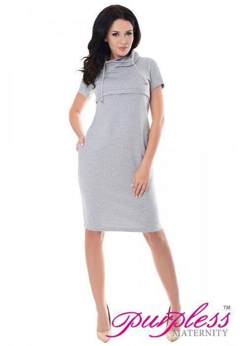 Šaty na dojčenie Denise Light Gray - Tehotenské oblečenie ... c5c337f602