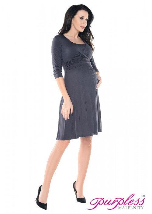 86f7b8d17cb3 Tehotenské šaty Pamela Graphite 36 - Tehotenské oblečenie ...