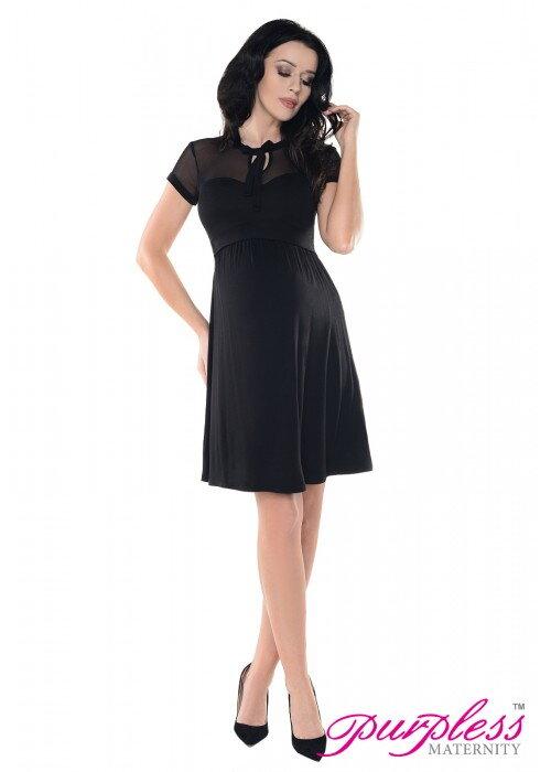 Tehotenské šaty Vivian Black - Tehotenské oblečenie 8bd8c47f58a