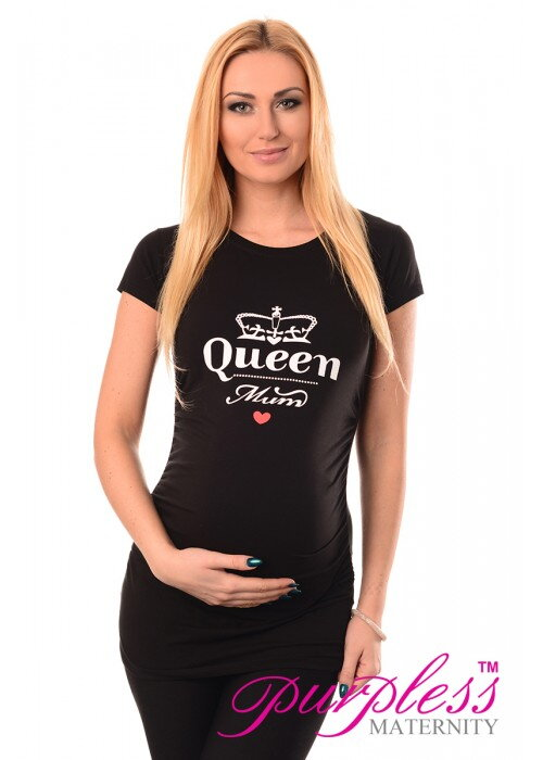 5eff5f41ca2f Tehotenské tričko Queen Mum Black - Tehotenské oblečenie