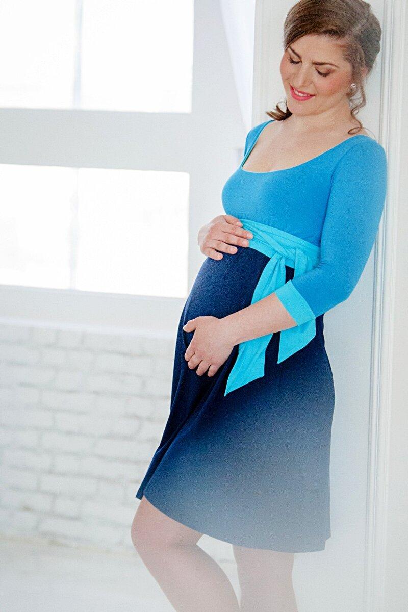fc55fa268a57 Tehotenské šaty Nataly Blue - Tehotenské oblečenie