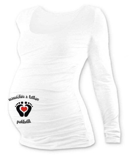 0bd479a61f24 Tehotenské tričko s potlačou DR biele