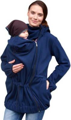 38d24e901d Nina - flísová mikina na nosenie detí vpredu - Tehotenské oblečenie ...