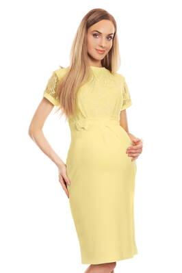 9ce47a94275c Šaty s čipkovým vrchným dielom